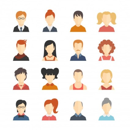 decorative-social-media-business-blog-users-profile-avatar-trendy-hairstyle-design-icons-collection-isolated-flat-vector-illustration_1284-2399